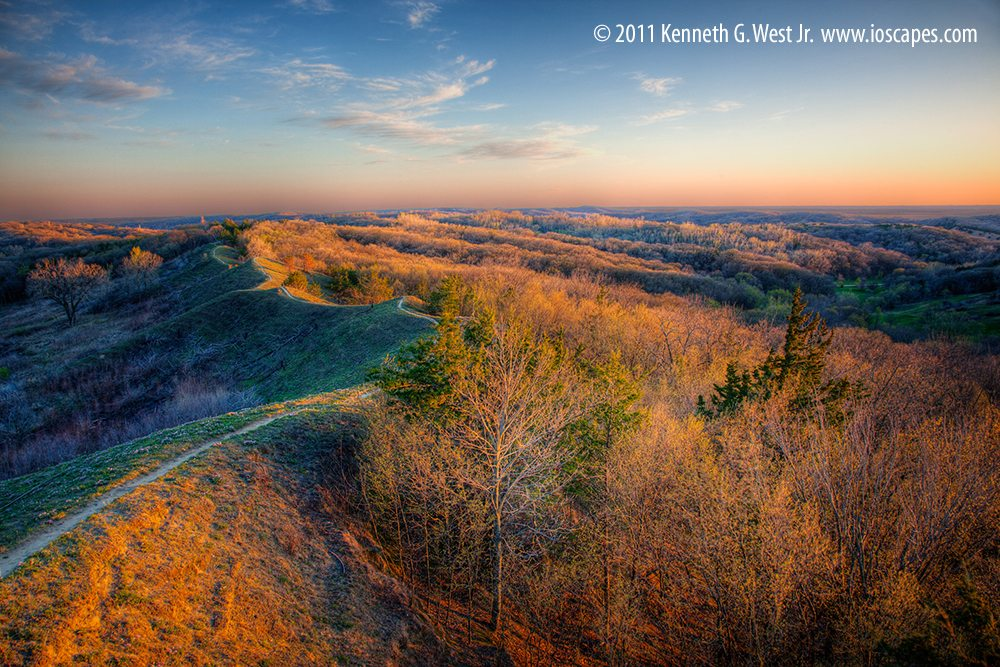 Loess Hills State Forest near Preparation Canyon State Park, Monona County